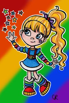 Rainbow Brite by Christie Cox, signed 4X6 print