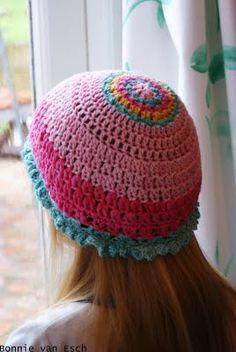 "My daughters ""shower cap"" aka hat."
