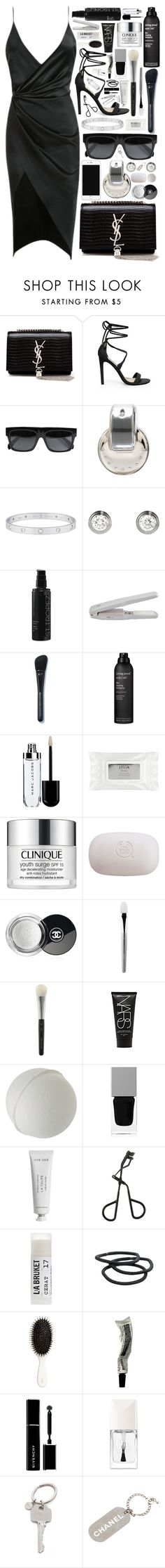 """""""we can get through anything"""" by dottt ❤ liked on Polyvore featuring Yves Saint Laurent, Steve Madden, CÉLINE, Bulgari, Cartier, St. Tropez, Living Proof, Stila, Clinique and The Body Shop"""