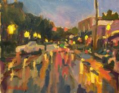 Main Street Blowing Rock Acrylic on Canvas