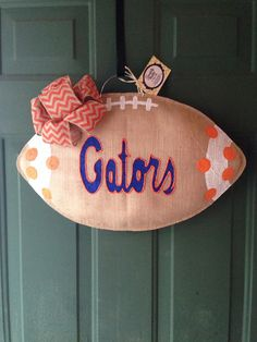 MADE TO ORDER University of Florida Burlap Wreath by GMHomeDecor