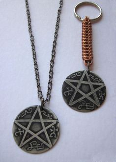 Supernatural Devil's Trap with Copper Chainmail by tessachandler, $25.00