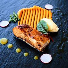 Pork Belly,sweet Potato,orange-Ginger Sauce