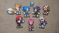 Sonic and Co. - Sonic Perler Bead Sprites by MaddogsCreations.deviantart.com on @DeviantArt