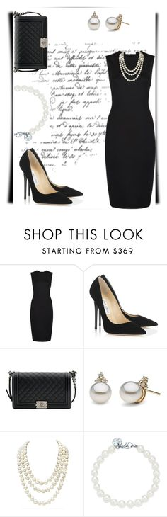 """""""Trophy Wife"""" by aharcaki ❤ liked on Polyvore featuring Givenchy, Jimmy Choo, Chanel and Tiffany & Co."""