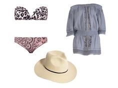 Mix and match prints and colors for a fun and eclectic look at the beach.