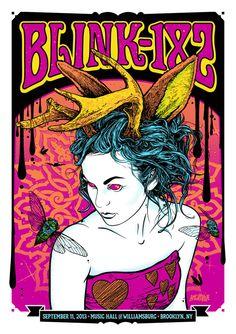 Blink-182 poster by Justin Kamerer, via Behance
