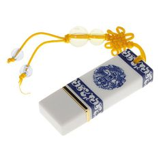 8G Azul e Branco Porcelana USB Flash Drive