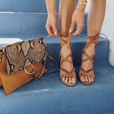 You can't beat animal print and tan together on a bag. This large clutch is gorgeous with tan sandals...