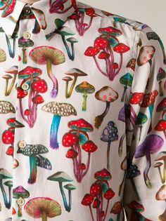 PAUL SMITH - mushroom print shirt 10