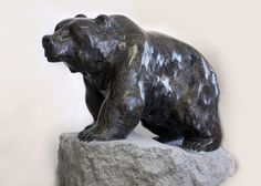"""'Walking the Territory'  27.5"""" x 39"""" x 31""""   Stone Sculpture by Cathryn Jenkins"""