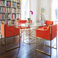 Worlds Away Anderson Gold Dining Table #laylagrayce