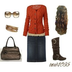 """""""Gold and orange"""" by rew1095 on Polyvore"""