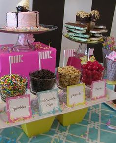 Ice Cream Party Toppings Bar