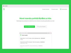 BytBot Landing Page designed by Adam Hayek. Connect with them on Dribbble; Landing Page Design, Bar Chart, Design Inspiration, Bar Graphs