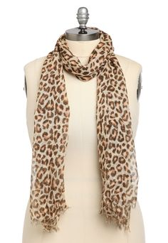 Plus Size Brown Leopard Scarf
