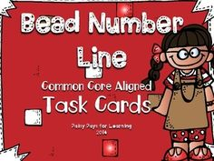 Looking for a way for your students to use a number line? This FREE pack from Daisy Days for Learning includes 56 different task cards perfect for working with a number line! A link to learn more about the bead number line is also included. Literacy Bags, Math Literacy, Guided Math, Kindergarten Math, Teaching Math, Numeracy, Teaching Ideas, Number Line Activities, Math Activities