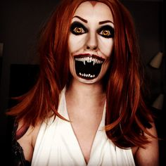 Fright Night vampire makeup cosplay Halloween horror IG: TheTrashMask