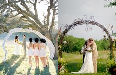 two interesting and unusual wedding arches