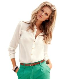 white button down shirt (need a new one!)