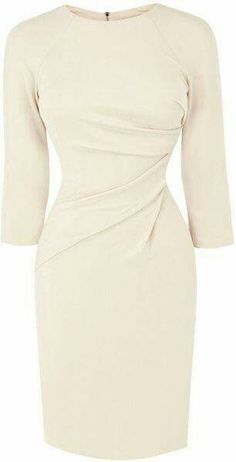 Creme sheath dress (love)