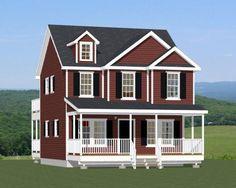 24x24 House -- #24X24H2 -- 1,143 sq ft - Excellent Floor Plans TINY HOUSE PLANS!