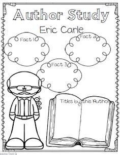 Eric Carle Author Study ~ Mini Unit Freebie in the