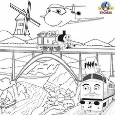 Thomas coloring page | Party Time | Pinterest | Thomas toys, Wooden ...
