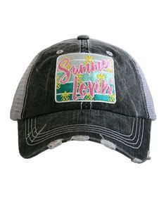 0a53facb328 Summer Lovin  baseball Hat ~ Adorable Summer Lovin  Baseball Hat ~ Adorable trucker  caps are embroidered and have curved bill distressed cap gives it a worn ...