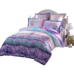 LOVO Fragrance of Provence Beautiful 100% Cotton 3-Piece Bedding Set... ($80) ❤ liked on Polyvore