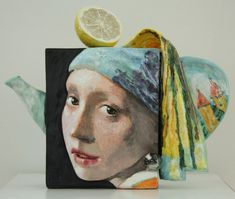 Girl with purl earring by Noi Volkov