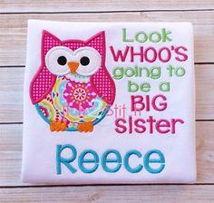 Big Sister Owl Applique