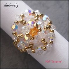 Golden Sunny Flower Ring | JewelryLessons.com