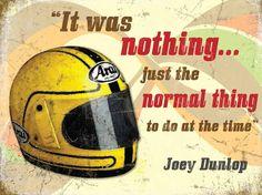 Joey Dunlop Helmet Metal Sign : Isle of Man TT - Official Shop