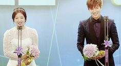 """Best couple : Park shin Hye and Lee Min Ho of the """"The Heirs""""."""