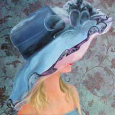 Designer Women Coaster set    women in hats by LynnNeuman on Etsy