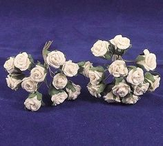 de40c07e00280 Rose Buds Small Parchment White Wedding Bridal Wreaths Catering Crafts Hats