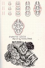 Phanta-Stick tangle Pattern (molossus, who says Life Imitates Doodles) Tags: rhodiarama exaclair dotgrid zentangle zentangleinspiredart tanglepatterns
