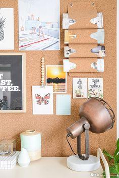 Kantoor inspiratie | Kurk hout planten | Styling & fotografie voor Stek editie 3, 2015: Binti Home | Office | Green | Home decoration