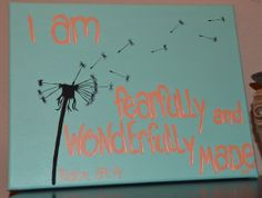 11x14 Hand Painted Psalm 13914 I am Fearfully by SugarbritchesArt, $40.00