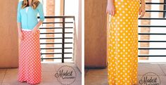 Polka Dot Maxi Skirts S-3XL