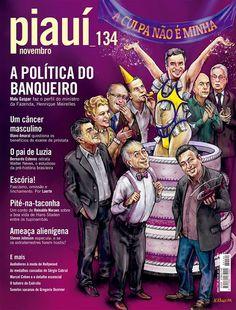 Esquerda Caviar: Capa da revista piauí deste mês satiriza o senador...