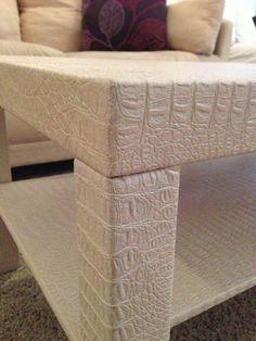 Faux gator coffee table, originally an Ikea LACK table