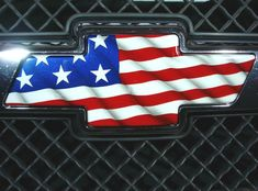 Image for Chevy Logo With American Flag Chevy Classic, Classic Trucks, Classic Cars, Chevy Silverado Accessories, Truck Accessories, Chevrolet Silverado, Chevrolet Logo, Chevrolet Emblem, Lifted Trucks