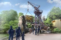 Concept design - The Lost Temple - Dark Ride at Movie Park (Germany)