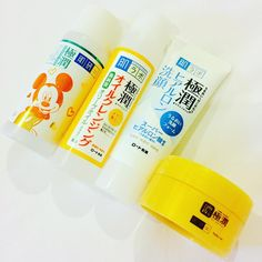 Asian Beauty Skincare | Hado Labo | Not Korean beauty but Japanese beauty! I love it in Thailand that even in 711 you can purchase travel sizes of some great brands 👍🏼I'm particularly excited about the limited edition Mickey Mouse lotion! 😁 I also bought the UV Gel make up base and Firming Lotion but forgot to put them in the photo 🙄 Peeps, what's your favourite product from them?