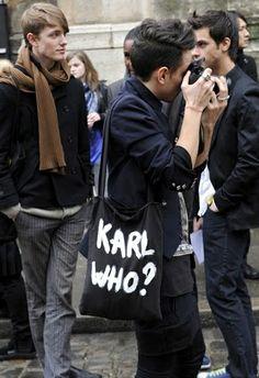 Karl who? #eco bag