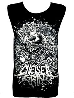 CHELSEA GRIN Skull T Shirt Tank Top Singlet Vest by TheRockShirts