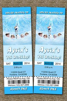frozen ticket invitations