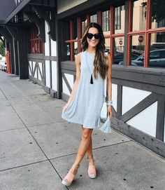 Sleeveless Swing Dress - Outfit Inspo For What to Wear Today - Photos